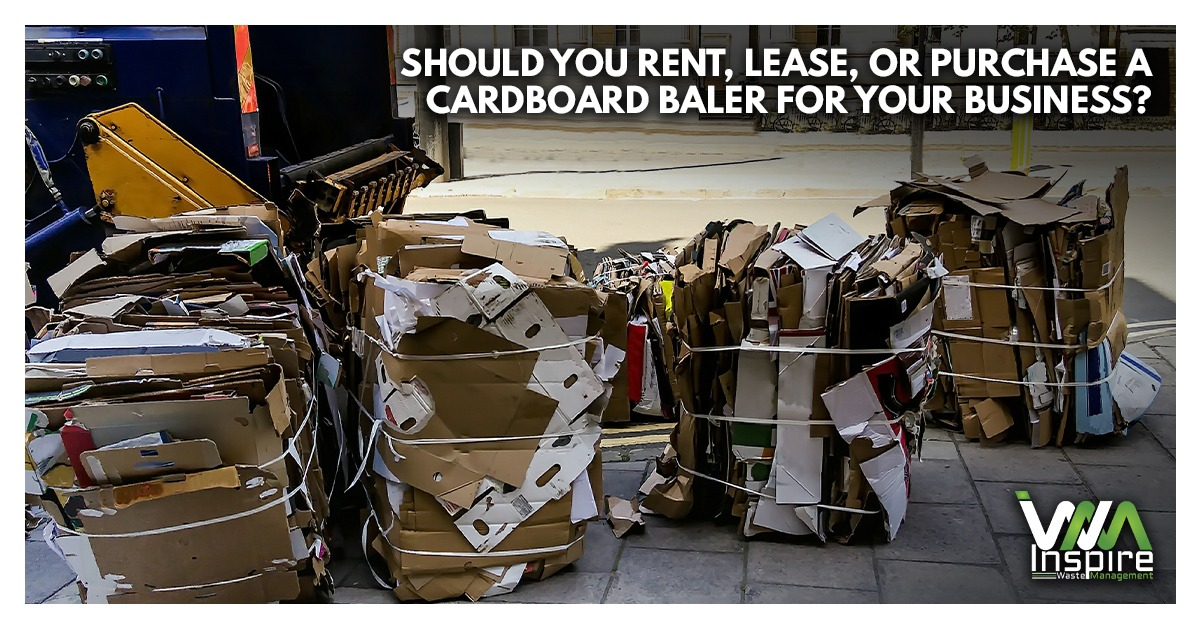 Should you rent, lease, or purchase a cardboard baler for your business?